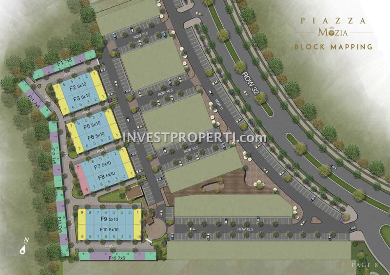 Block Plan Piazza @ The Mozia BSD