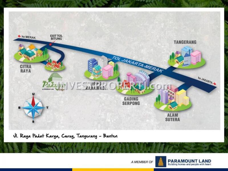 Lokasi Cluster Pakuan Village