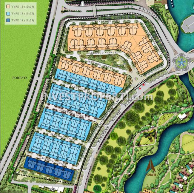 Site Plan Cluster Lakewood NavaPark