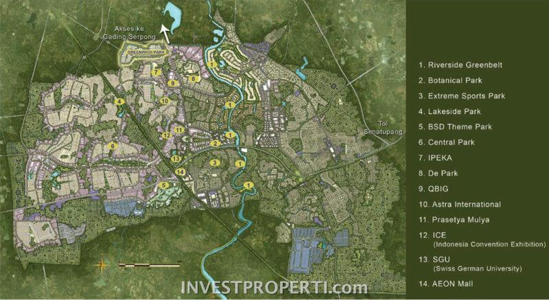 Peta Lokasi Greenwich Park BSD
