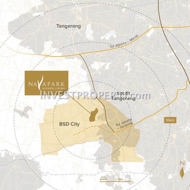 Peta Lokasi Nava Park BSD
