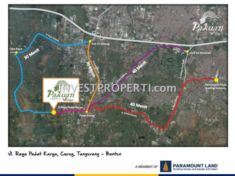 Peta Lokasi Perumahan Pakuan Village