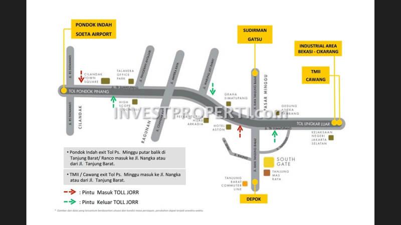 Peta Lokasi Southgate Jakarta