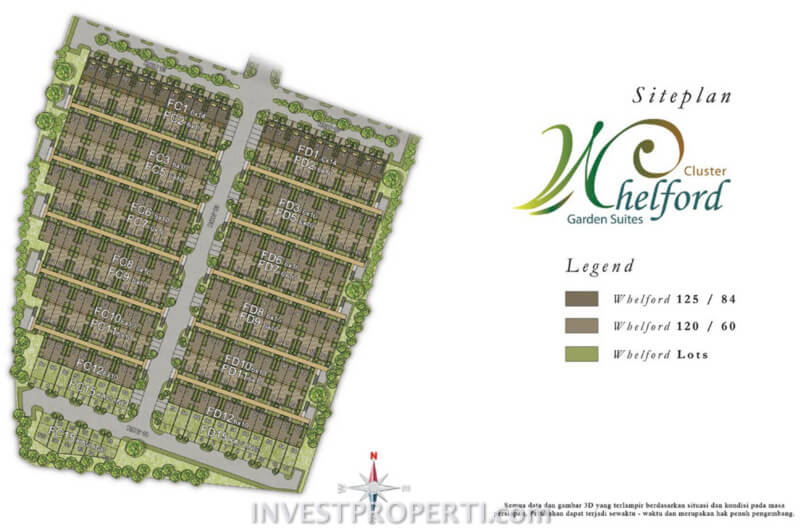 Siteplan Cluster Whelford Greenwich Park