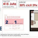 Tipe 2 BR EcoHome Apartemen