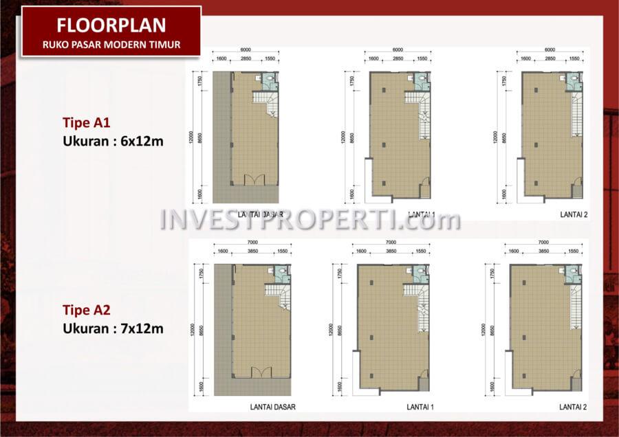 Floor Plan Ruko Pasar Modern BSD Timur