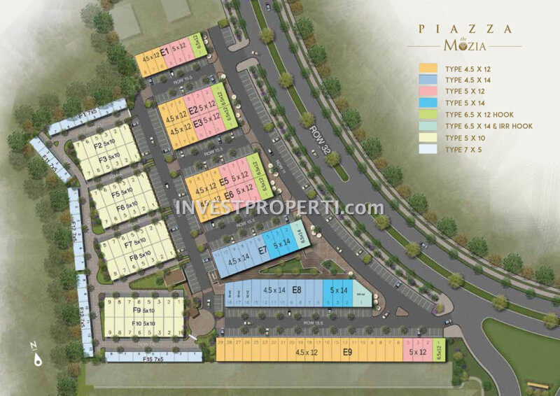 Site Plan Ruko Piazza The Mozia