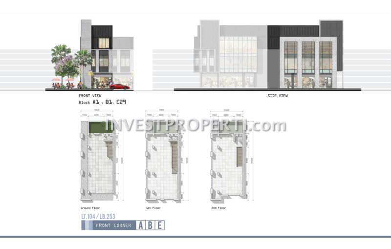 Denah Ruko West Park Blok A,B,E