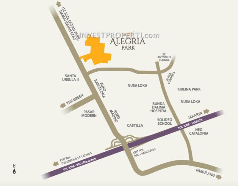 Lokasi Alegria Park BSD City