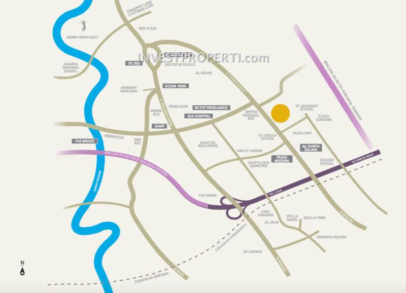 Peta Lokasi Cluster Alegria Park
