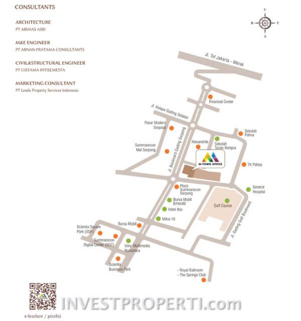 Peta Lokasi M-Town Office Serpong