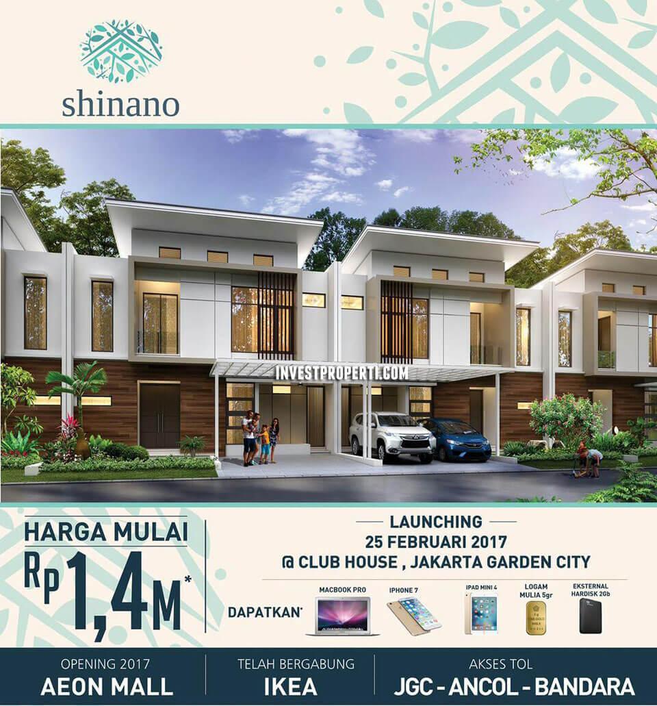 brosur Cluster Shinano Jakarta Garden City