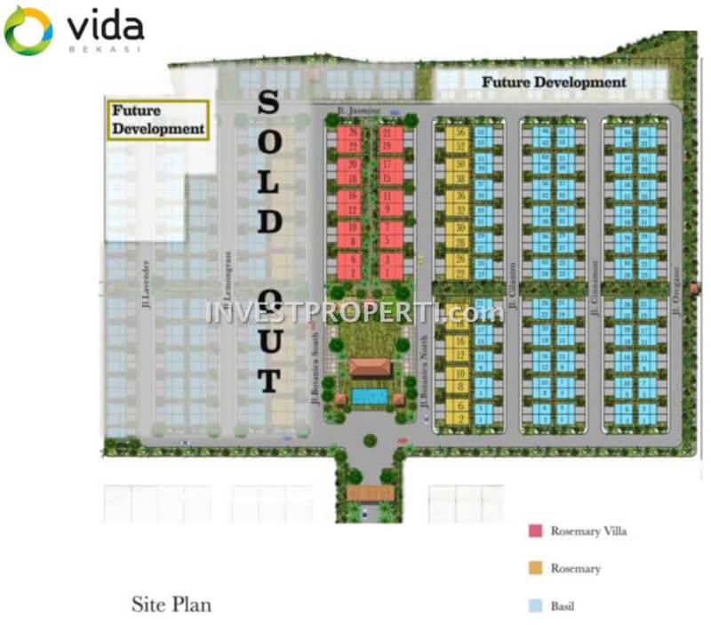 Cluster Botanica Vida Bekasi Site Plan