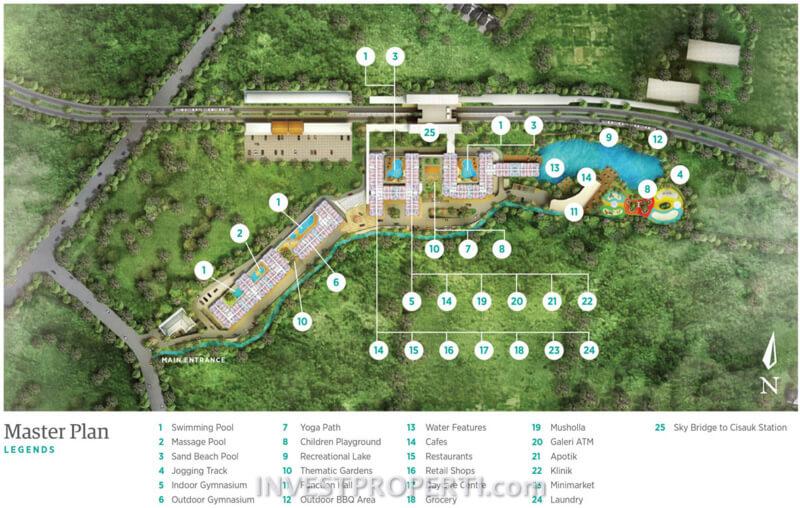 Master Plan Apartemen Serpong Garden