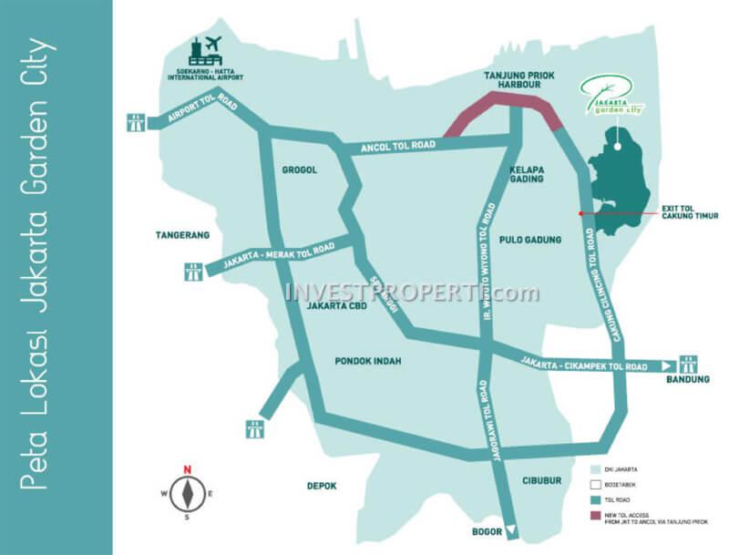 Peta Lokasi Jakarta Garden City