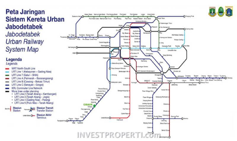 Peta Sistem Kereta Jabodetabek
