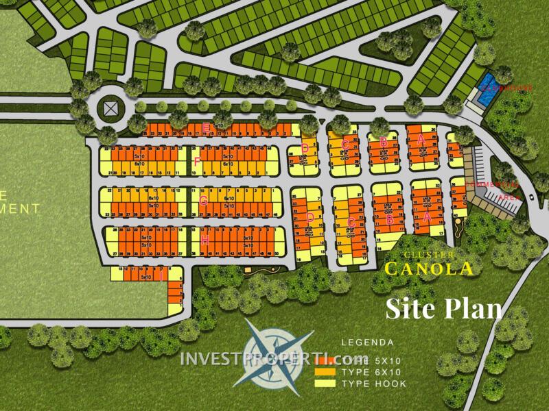 ParkVille Serpong Cluster Canola Site Plan