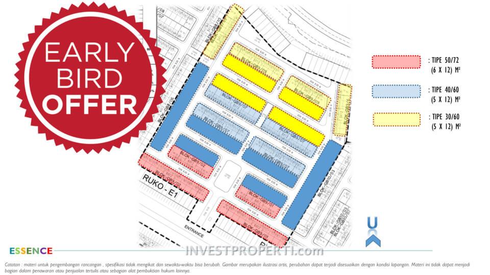 Site Plan Cluster Essence Grand Batavia