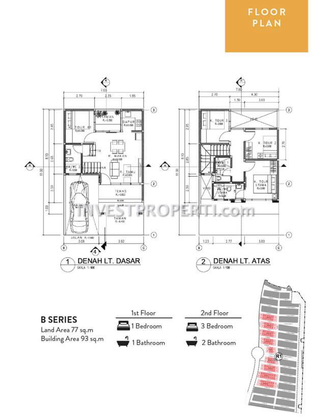 Denah Rumah Allura Lavon Swan City B Series