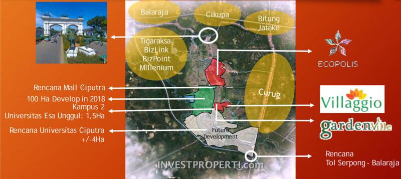 Lokasi Cluster Villaggio Citra Raya