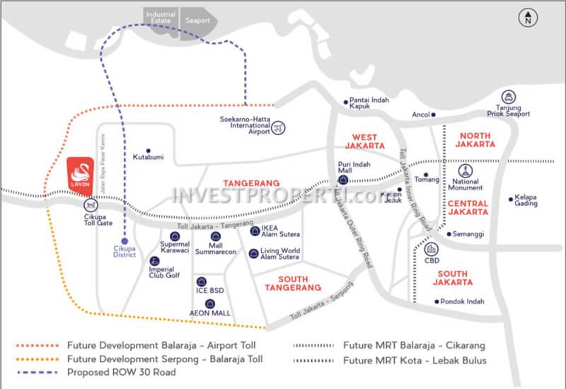 Lavon Swan City Cikupa Map Location