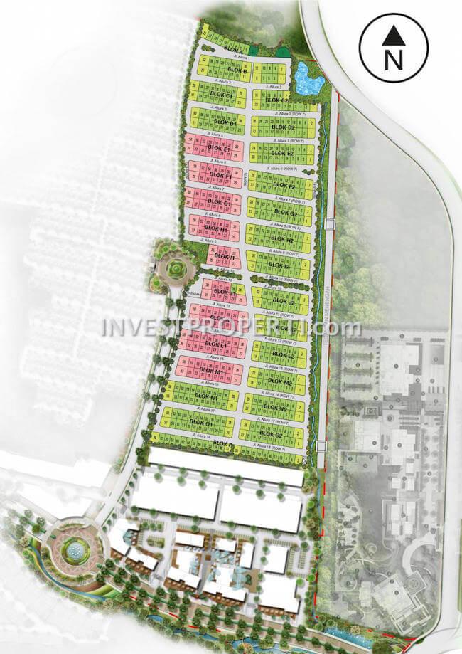 Site Plan Cluster Allura Lavon Swan City Cikupa