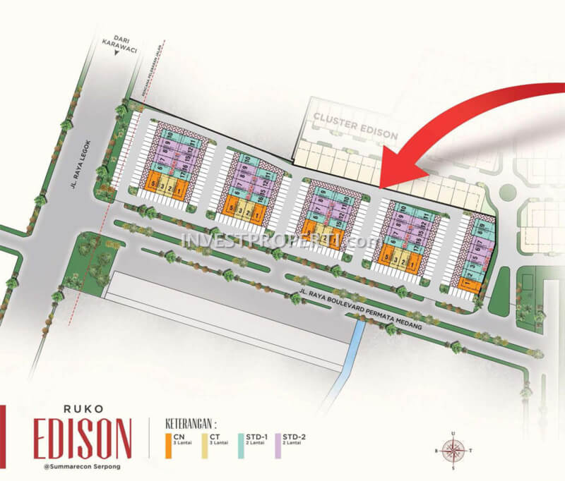 Site Plan Ruko Edison