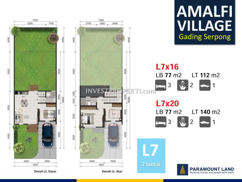 Amalfi Village Gading Serpong L7 - 2 Lantai Denah