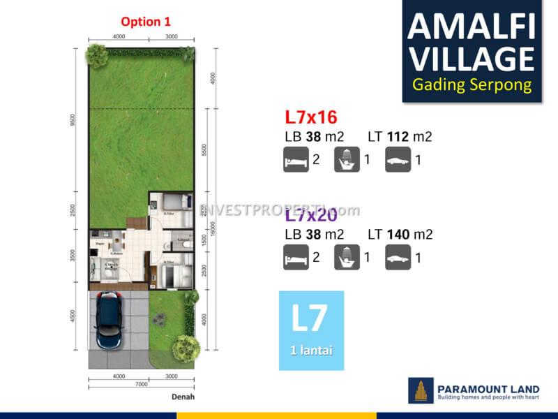 Denah Amalfi Village Option 1