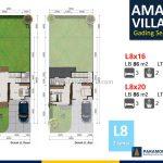Amalfi Village Gading Serpong L8 Denah