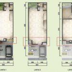 denah tipe standard rumah alloggio serpong