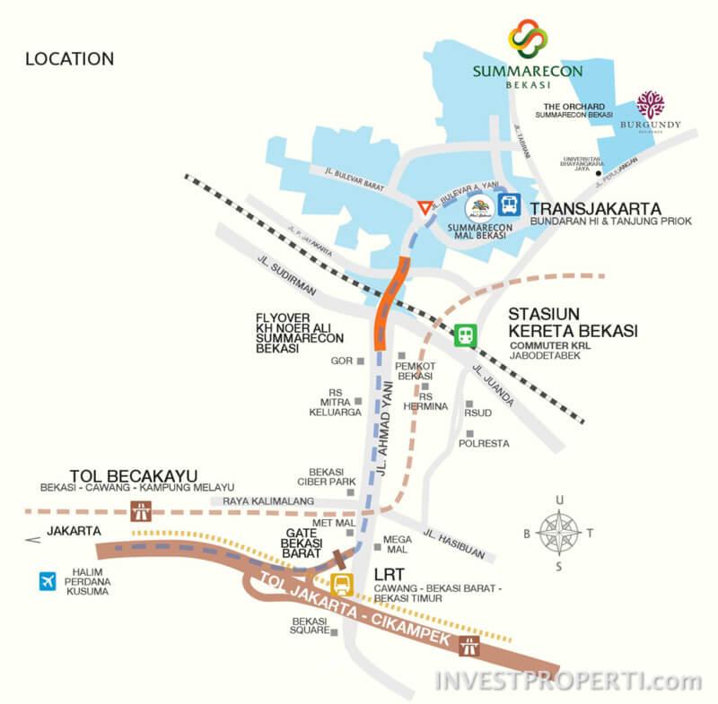 Lokasi Akses Menuju Summarecon Bekasi
