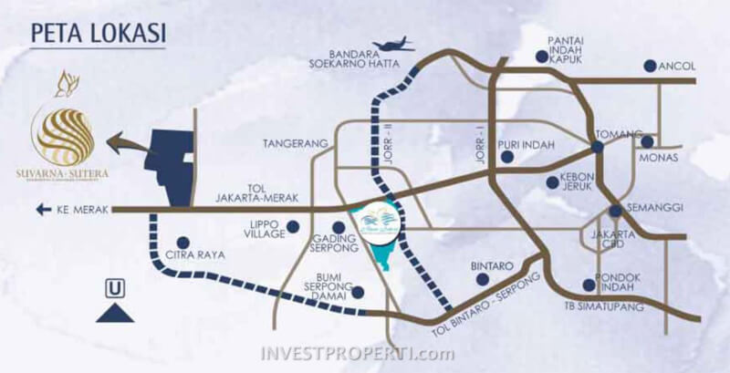 Peta Lokasi Suvarna Sutera
