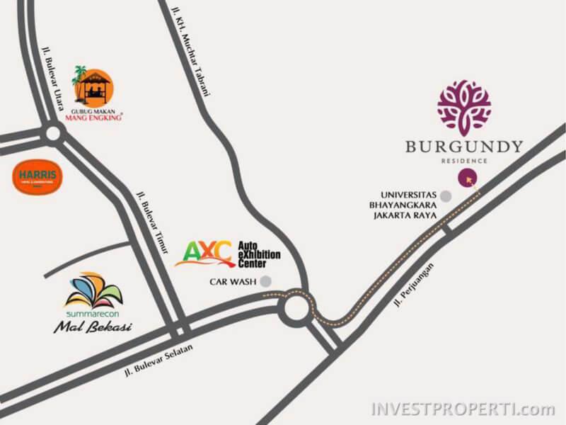 Peta Lokasi The Orchard Summarecon Bekasi