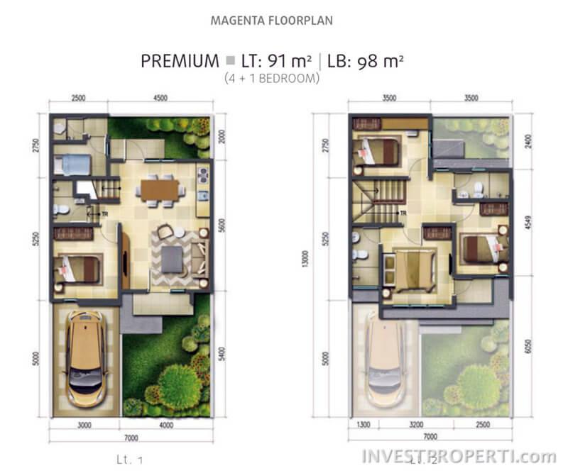 Tipe Magenta Premium Floor Plan