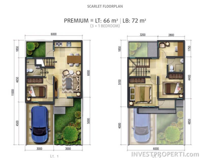 Tipe Scarlet Premium Floor Plan