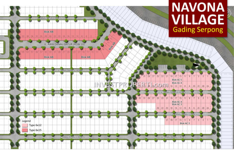 Site Plan Navona Village Gading Serpong
