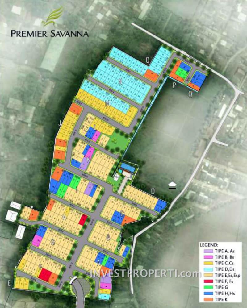 site-plan premier savanna vida bekasi