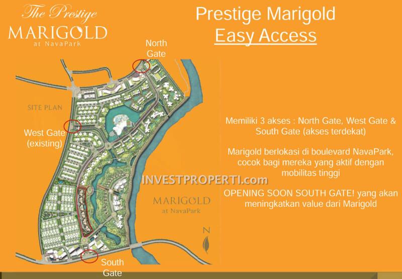 Akses Menuju Apartemen Marigold Navapark