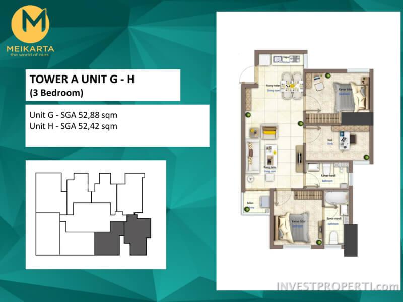 Apartemen Meikarta 3 BR
