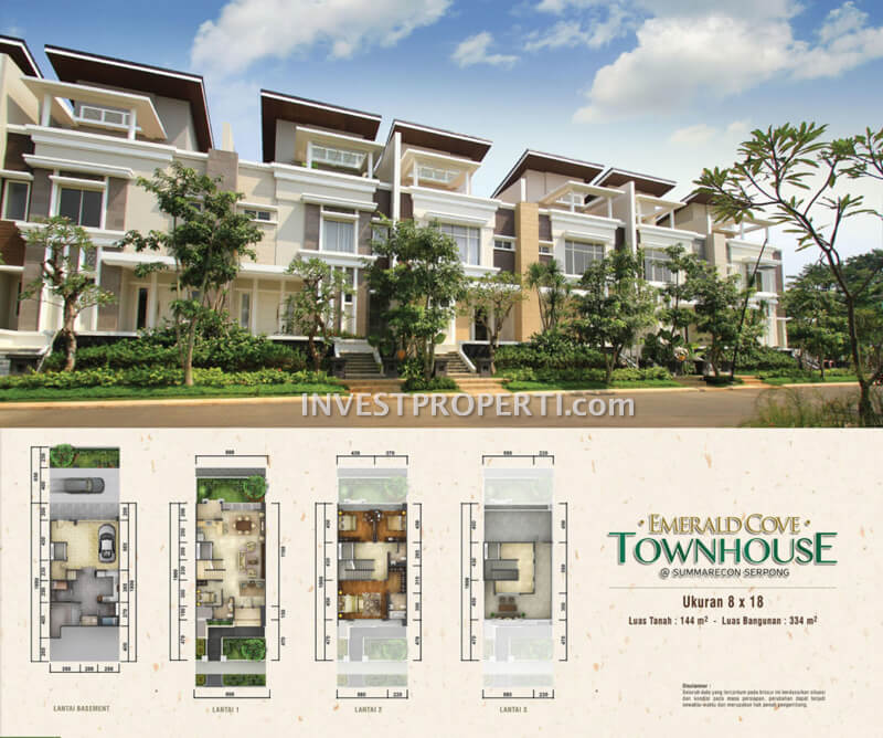 Emerald Cove Townhouse Summarecon Serpong
