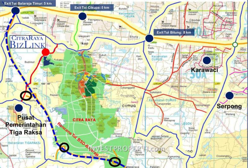 Peta Lokasi BizLink CitraRaya