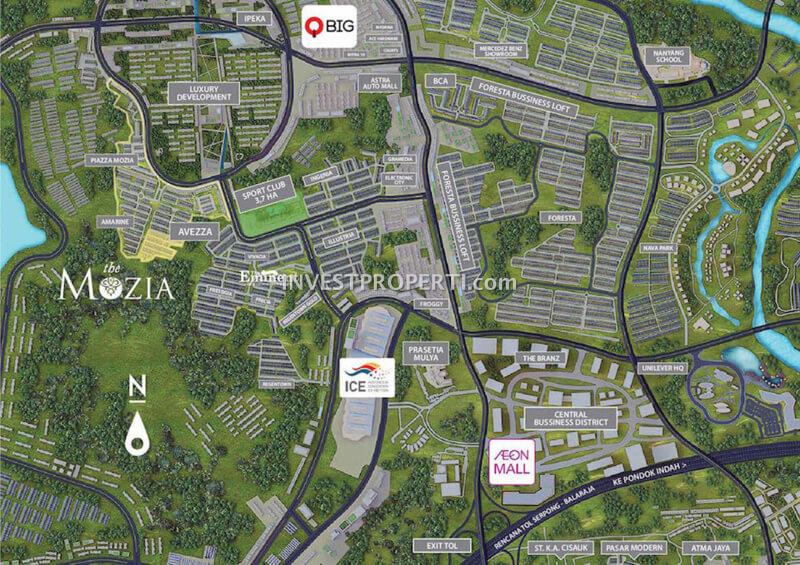 Peta Lokasi Cluster Avezza The Mozia