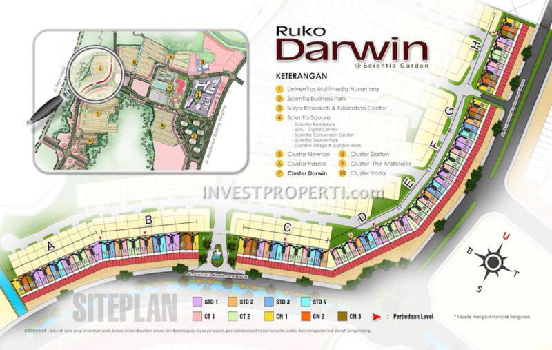 Peta Lokasi Ruko Darwin
