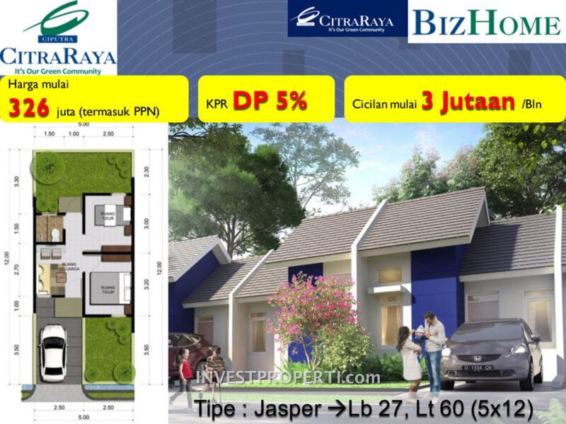 Rumah BizHome Tipe Jasper