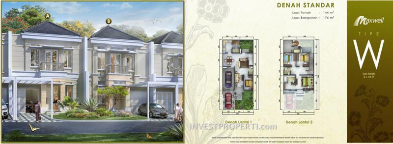 Tipe W Rumah Maxwell Serpong