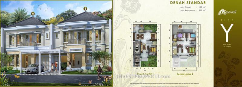 Tipe Y Rumah Maxwell Serpong