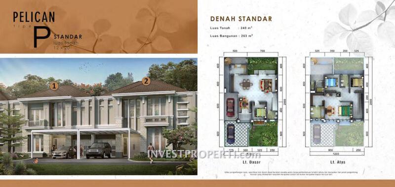 Rumah Cluster Pelican Tipe P Standard