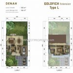 Denah Rumah Tipe L Standard Cluster Goldfinch