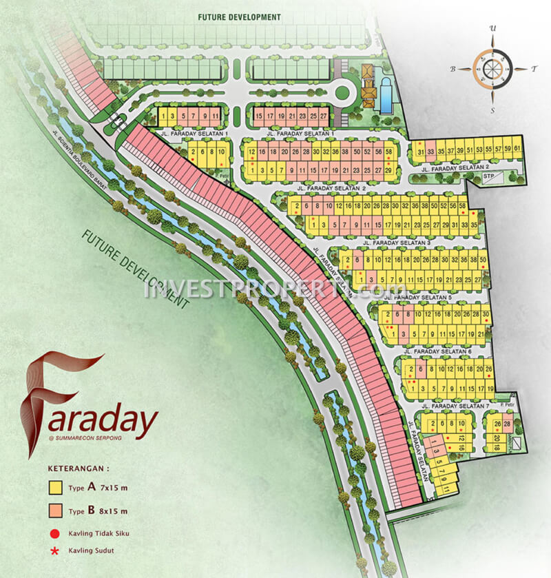 Site Plan Cluster Faraday